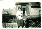 1928 Mary Danskin in back garden