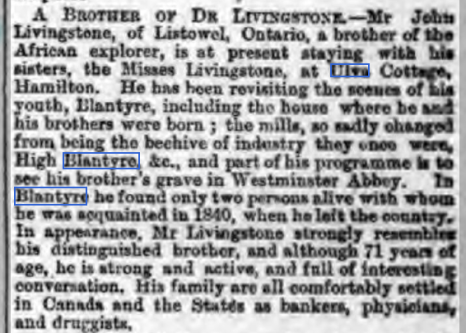 1882 Livingstone's Brother