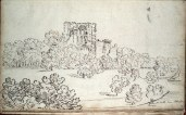 1799 Bothwell Castle from Priory