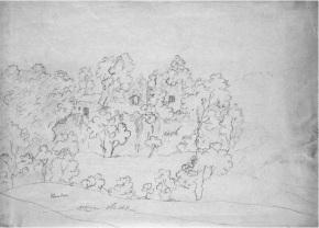 1800 Blantyre Priory sketch by George Hutton