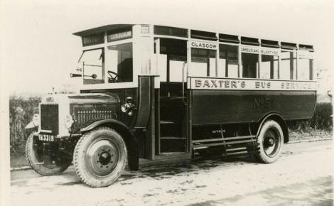 1925 Baxters bus blantyre