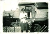 1928 Mary Danskin at Danskins shop, Stonefield Cres