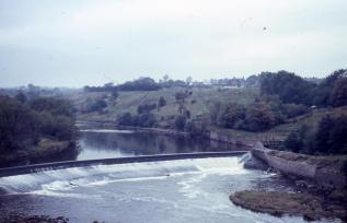 1960 The Blantyre Weir by Davy Forrest
