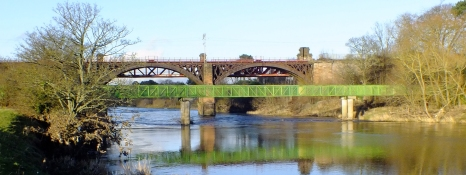 2014 Photo on 11th Jan by Robert Stewart of the Clyde Foot and Rail Bridges, Blantyre's Northern boundary.