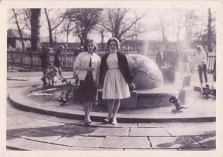 Sent in by Mary Crowe who is on the right with her sister in law. The photo was taken during Summer 1962 in David Livingstone Centre.