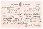 1925 Telegram to Mrs Templeton