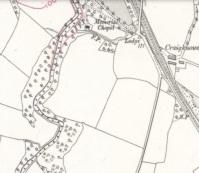 1910 Map of Cochranes Chapel, Blantyre, Calderglen Estate