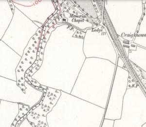 1910 Cochranes chapel map