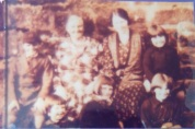 1927 Bairds Rows. Pictured is Mary Falco's granny Sweeney along with Mary's mother who was about 5 at the time.