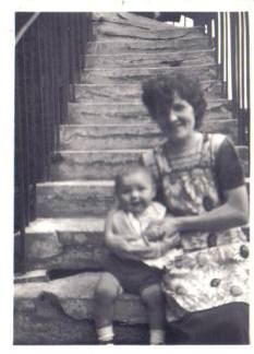 1955 Fairlie Gordon & mother at Broompark Rd