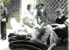 1972 Paul Veverka in pram at Calderpark zoo