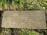 2014 Plaque Stone cleaned in April by Alex Rochead