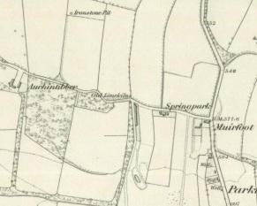 1859 Auchentibber Farm map