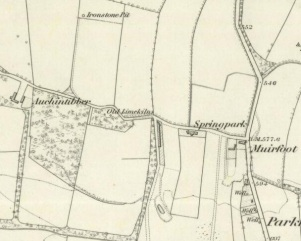 1859 Auchentibber Farm map
