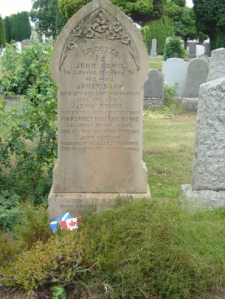 Janet Shaw and John Bowies grave High Blantyre cemetery