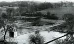 c1914 Suspension Bridge & Convent School on the hill