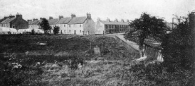 c1920 Waterloo Row. The Dolan's lived in the end house gable facing.