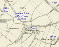 1859 Map to Park Farm & Park House, Blantyre
