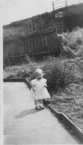 1948 Betty Weaver at Victoria Street. Shared by Betty Weaver