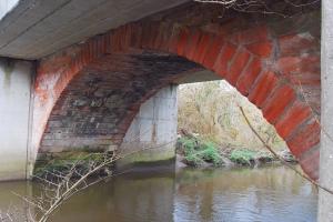 2009 Redlees widened bridge . Photo by Jim Brown