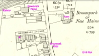 1910 Broompark Avenue map