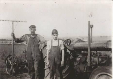 Late 1920s Alex Main Udston and Jim Marshall Calderside. Shared by Jim Cochrane