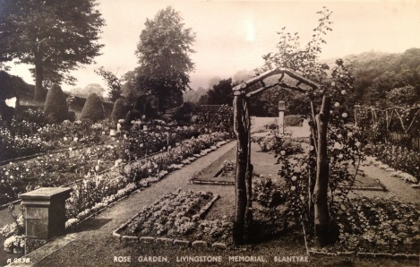 1929 The rose garden David Livingstone memorial