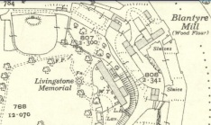 1936 Livingstone Memorial map