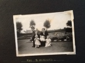 1953 Mary Pearson, Sarah Cook, Linda, Ann & Jayne at Public Park shared by L Mackie