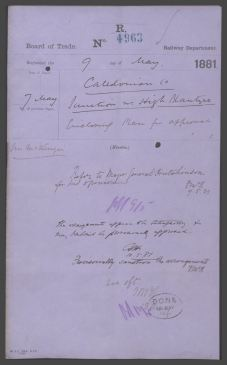 1881 Approval of Railway Junction