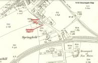 1910 Map Warnocks Laun, Springfield Place