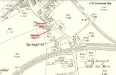 1910 Map Warnocks Laun, Springfield Place