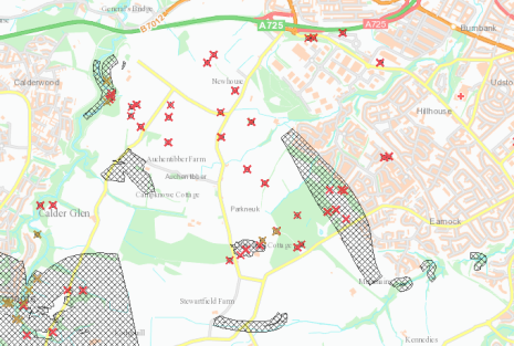 Coal Authority Map showing areas at risk