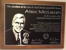 1998 Alex McLean - honoured. Sent by Betty McLean