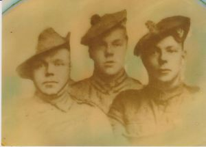 1918 Thomas Potter KIA. on left with his brothers.