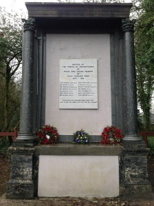2015 Auchentibber War Memorial, Blantyre. Pictured by PV in January.