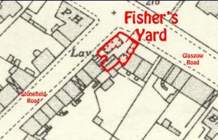 Fisher's Blacksmith Yard corner of Stonefield Road