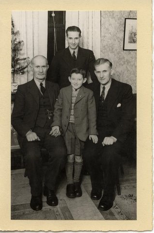 4 Generations of Nimmo's, James, Robert James,  and my brother Jim