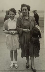 1959 Christine Gardner and her mother Maisie
