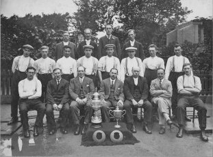 1928 Auchntibber Quoiting Team Winners. Shared by I Fleming.