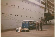 1967 Bedford from Blantyre ready to go to Australia. Shared by J. Cochrane