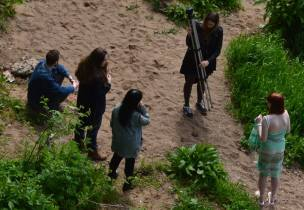2015 May. Filming at the River Clyde. By A. Bain