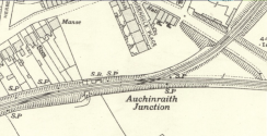 1936 Auchinraith Junction map