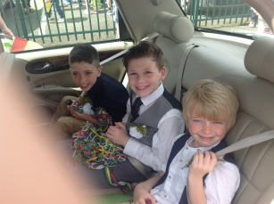 2015 Blantyre Gala Day 27th June. Royal boys leave Miners Welfare (PV)