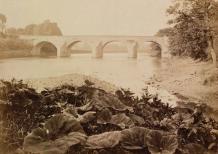 1870 Bothwell Bridge from Blantyre. By T Annan