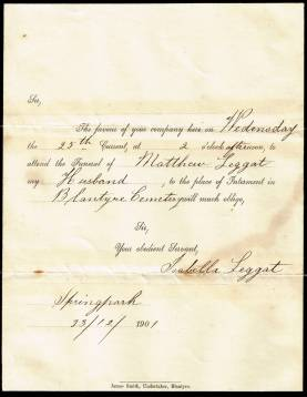 1901 Matthew Leggat of Springpark