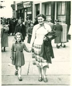 Janet and Nancy Duncan . 21st August 1954 at Largs