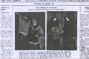1938 Blantyre Pageant from Blantyre Gazette (PV)