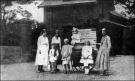 1908 Organ Grinders at one of Blantyres Lodge Houses