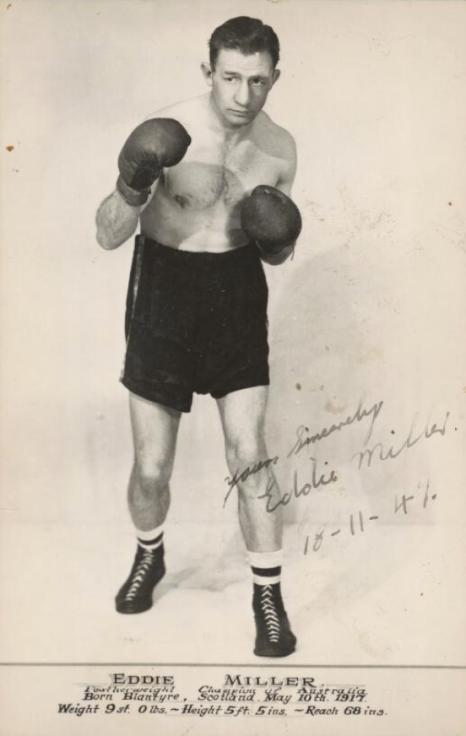1947 Eddie Miller, Boxer from Blantyre